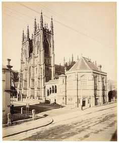 St Andrew's Cathedral,in Sydney in State Library of NSW. Great Photos, Old Photos, Sydney City, Religious Architecture, Historical Pictures, East Coast, Places To See, History, Vintage