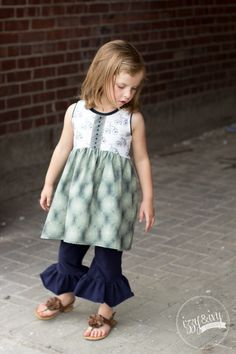 Charly Tunic by Izzy & Ivy Designs- Snickerdoodle Stew Girls Dresses, Flower Girl Dresses, Summer Dresses, Free Spirit Fabrics, Stew, Ivy, Tunic, Wedding Dresses, Pattern