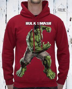 New Collection Hulk Hooded Sweatshirt / Sport Motivation Tshirt / Screen Print Handmade T-shirt / Sport Sweatshirt by Eugoriashop