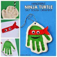 Ninja Turtles salt dough handprint