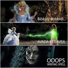 Ahhhh yes, my favourite scene in the movie where Bellatrix kills Cinderella. 10/10