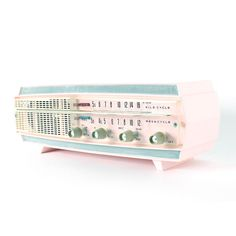 Pink Channel Master Speaker |  Mod Radio has transformed this vintage Pink Channel Master Radio into a speaker system that provides superb sound quality in a rad, retro package!