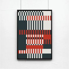 "illustrationsforinstance: "" Poster, Mid Century Art print, retro Print Poster, Geometric Art Print, Geometric poster, Abstract Art Print, Abstract Posters """