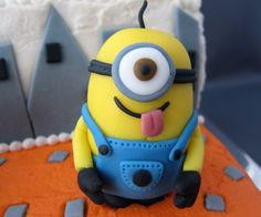 Another year, another birthday. My oldest son is now 6 years old! I can't believe it. He is anxiously awaiting Despicable Me 2 and wanted a minion cake for his birthday with six minions of course! They are simple and fun to make and add much personality to a birthday cake! I only highlight how to make the minions in this instructable. The rest is pretty self explanatory. If you have ever seen my cakes in the past you will already know I refuse to cover a cake completely in fondant but love…