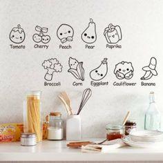 Kawaii Vegetable Prints