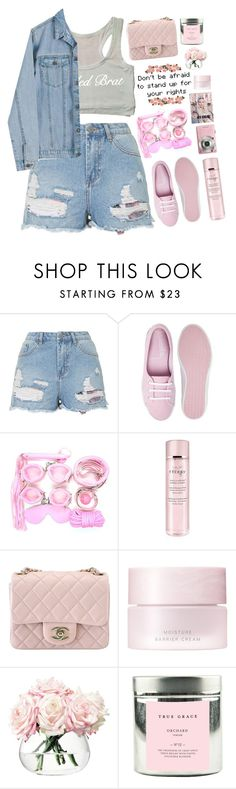 """""""Untitled #2088"""" by tacoxcat ❤ liked on Polyvore featuring Topshop, By Terry, Chanel, SUQQU, LSA International, True Grace, Cheap Monday, women's clothing, women's fashion and women"""