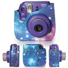 CAIUL 7 in 1 Fujifilm Instax Mini 8/8+ Camera Accessories Bundles (Galaxy Starry Sky Mini 8 Case/ Mini Album/ Close-up Selfie Lens/ 4 Colors Close-up Lens/Wall Hang Frames/Film Frame/Film Stickers)