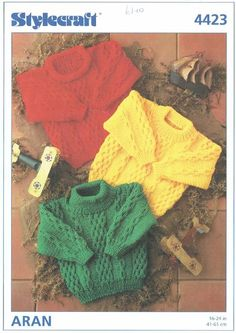 Stylecraft Knitting Patterns To Download : 1000+ ideas about Aran Jumper on Pinterest Cable ...