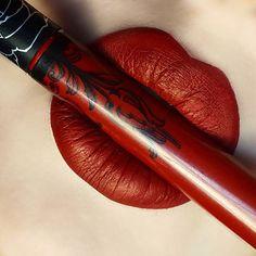 "❤""Nosferatu"" Everlasting liquid lipstick by @katvondbeauty @thekatvond  One of my favorite red lipsticks!❤"