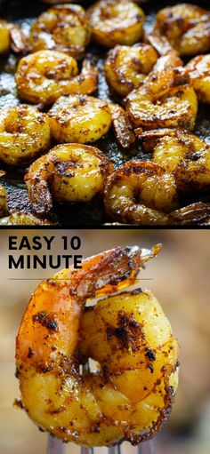 Shrimp Recipes For Dinner, Seafood Recipes, Gourmet Recipes, Asian Recipes, Cooking Recipes, Shrimp Dishes, Fish Dishes, Main Dishes, Great Recipes