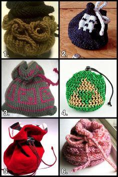 Geek Crafts: DIY Dice Bag Roundup #dicebag #dice #gamer