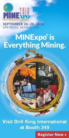 Meet with Drill King International at MINExpo 2016