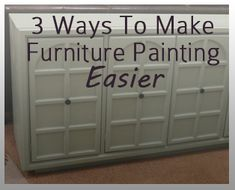 Furniture painting is hard work, that's for sure. There's no way around that. But, the results are definitely worth it. There are, however, three things you can do to make painting furniture a little easier and less work: 1. Use an Electric Sander – I swear by using an electric …