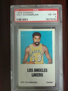WILT CHAMBERLAIN 1972-73 COMSPEC PSA 4 -  LOS ANGELES LAKERS