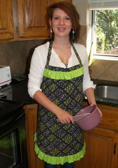 Lime & Coconut Cooking Apron by PacificJunction on Etsy, $25.00