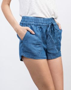 Detail of Lightweight Tencel Shorts