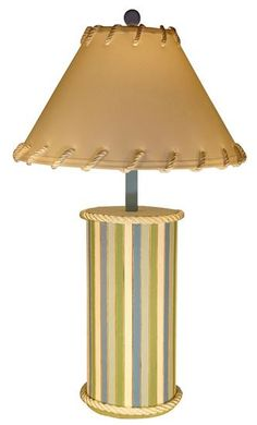 Wood Plank Beach Stripe Table Lamp $144.95 http://www.oceanstyles.com/coastal-lighting/wood-plank-beach-stripe-table-lamp-p-278