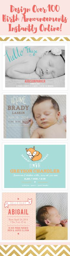Find over 100 birth announcements that you can instantly design online. Baby On The Way, Our Baby, Baby Pictures, Baby Photos, Birth Announcements, Everything Baby, Baby Time, Baby Bumps, My Baby Girl