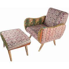 2-Piece Lisbon Arm Chair & Ottoman Set