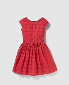 Vestido de niña Tommy Hilfiger rojo con cinturón