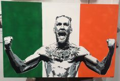 fan-made painting of Irish fighter Conor McGregor : if you love #MMA, you'll love the #UFC & #MixedMartialArts inspired fashion at CageCult: http://cagecult.com/mma