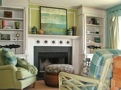 simple mantel   Fireplace with built-ins