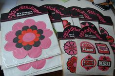"Mod •~• vintage Jan Pienkowski ""It's a Stickup!"" stickers"