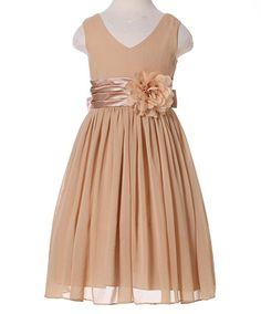 cba88fb00d6 Amazon.com  Bow Dream Flower Girl Dress V-Neckline Chiffon  Clothing