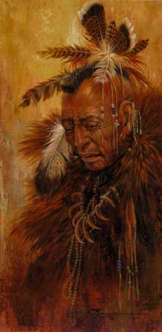 Vision can come to individuals in a number of ways. They can go out upon the mountains or into the valleys and cry for their vision. Sometimes it will take many such quests before vision comes, if it even does. -- The Medicine Wheel Earth Astrology by Sun Bear and Wabun (Image: Shaman of the Pawnee - Larry Fanning)