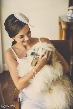 Making of da Noiva com o Cachorrinho. Casamento no Sítio - Mariana e João - Mansano Fotografia 14