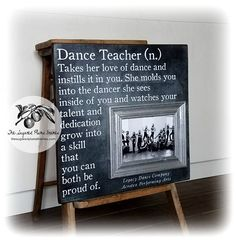 Dance Teacher Gift, Cheer Coach Gift, Dance Team Gift, Coach Gift, Personalized Picture Frame, 16x16 The Sugared Plums Frames #teachergifts