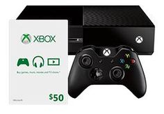 Xbox One Console and $50 Xbox Gift Card $399.99 today only!