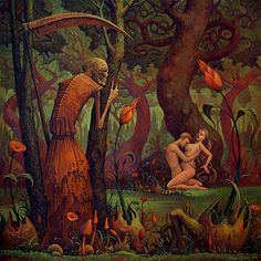 Death Eavesdropping On Lovers by Michael Hutter