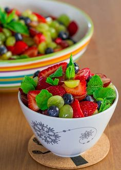 Summer Fruit Salad with Lemon Dressing