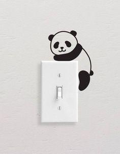 Fashion Home Mural Panda Switch Sticker N3