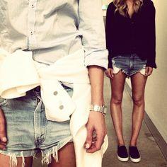#theyallhateus uniform... Denim shorts and slip ons @tashsefton