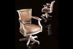 Best selection of sophisticated Desk Chairs to work - a very wild and nature inspired leather in a classic design