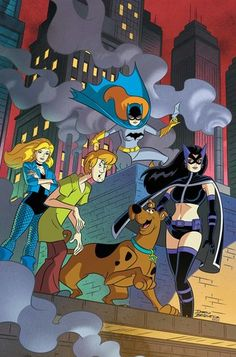 cartoons characters cartoons scooby doo In this latest all-ages collection, Scooby and the gang cross paths with the Atom, the Legion of Super-Heroes, the Birds of Prey and more! Plus, the gang takes a trip to Jellystone Park and runs. Cartoon Crossovers, Cartoon Characters, Comic Book Covers, Comic Books Art, Memes Humor Negro, Batgirl, Live Action, Desenhos Hanna Barbera, Scooby Doo Images