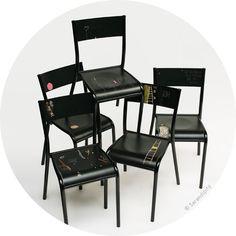 chaise d'écolier Les Grandes Bavardes .:serendipity.fr:.