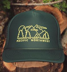 Evergreen Trucker Hat - TheGreatPNW I WANT EVERYTHING ON THIS WEBSITE!!!!!!!!!!!!