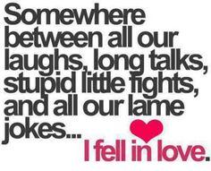 Ik werd verliefd