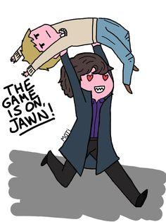 The game is on! #Sherlock #Johnlock