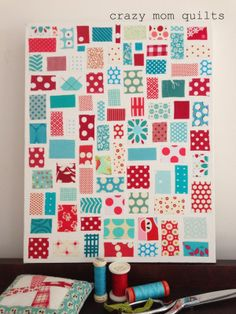 Crazy Mom Quilts. Love the different sizes and the layout.
