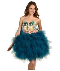 I should make my bridesmaids wear this heinous Silvia Bours Macaron de Peinture dress. not only is it really expensive, they would look like prizes from that claw game at the arcade and I would go down as the worst bride of all time. Go big or go home.