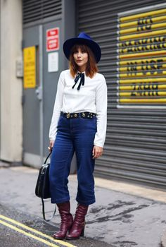 Mandatory Credit: Photo by Silvia Olsen/REX/Shutterstock (5108492ad) Street Style Street Style, Spring Summer 2016, London Fashion Week, Britain - 18 Sep 2015