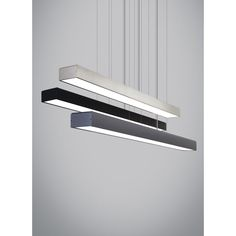 Tech Lighting Knox LED Linear Suspension Pendant in Satin Nickel - Brushed, Contemporary & Modern Linear Lighting, Strip Lighting, Lighting Design, Pendant Lighting, Loop Lighting, Hidden Lighting, Modern Lighting, Chandelier, Kitchen Lighting Fixtures