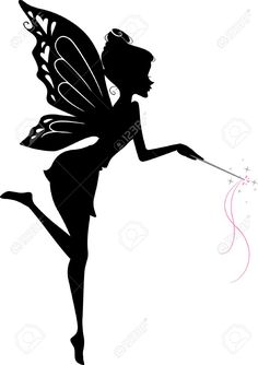 Illustration of Illustration Featuring a Fairy Waving Her Wand vector art, clipart and stock vectors. Fairy House Crafts, Fairy Templates, Fairy Clipart, Fairy Paintings, Fairy Silhouette, Fairy Drawings, Fairy Tattoo Designs, Kindergarten Art Projects, Fairy Jars