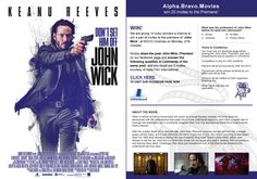 We are giving 10 lucky winners a chance to win a pair of invites to the premiere of 'John Wick' at NOVO Cinemas on Monday, 27th October. Simply share the post 'John Wick | Premiere' on our facebook page and answer the following question in comments of the same post, and you could win 2 invites, courtesy of Italia Film.