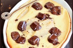 Clafoutis poire choco cannelle