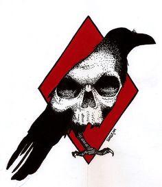 Raven by Hands-hooks on DeviantArt Pencil Skull Tattoos, Body Art Tattoos, Sleeve Tattoos, Cool Tattoos, 16 Tattoo, Raven Tattoo, Tattoo Hand, Tattoo Sketches, Tattoo Drawings